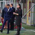 La princesse Victoria et le prince Daniel de Suède visitent le projet de l'As Roma pour les enfants handicapés à Rome, le 15 décembre 2016.15/12/2016 - Rome