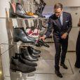 La princesse Victoria de Suède et le prince Daniel visitent un concept store suédois à Milan le 16 décembre 2016. 16/12/2016 - Milan