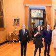 La princesse Victoria et le prince Daniel de Suède rencontrent Laura Boldrini, présidente de la chambre des députés d'Italie lors de leur déplacement à Rome, le 15 décembre 2016.15/12/2016 - Rome