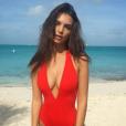 Emily Ratajkowski en vacances aux Bahamas. Photo postée sur Instagram en décembre 2016.