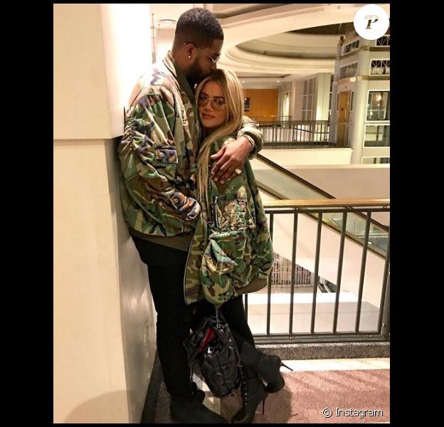 Khloé Kardashian et Tristan Thompson sur une photo publiée sur Instagram le 18 décembre 2016