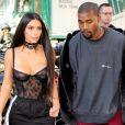Kim Kardashian et Kanye West à Paris le 29 septembre 2016.