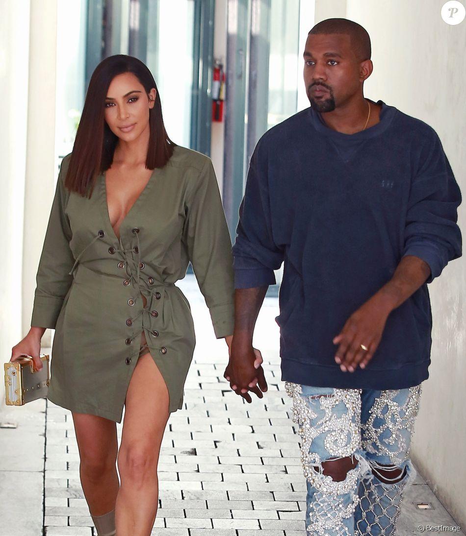 Kim Kardashian et son mari Kanye West sont allés déjeuner au restaurant Ysabel à West Hollywood, le 31 juillet 2016.