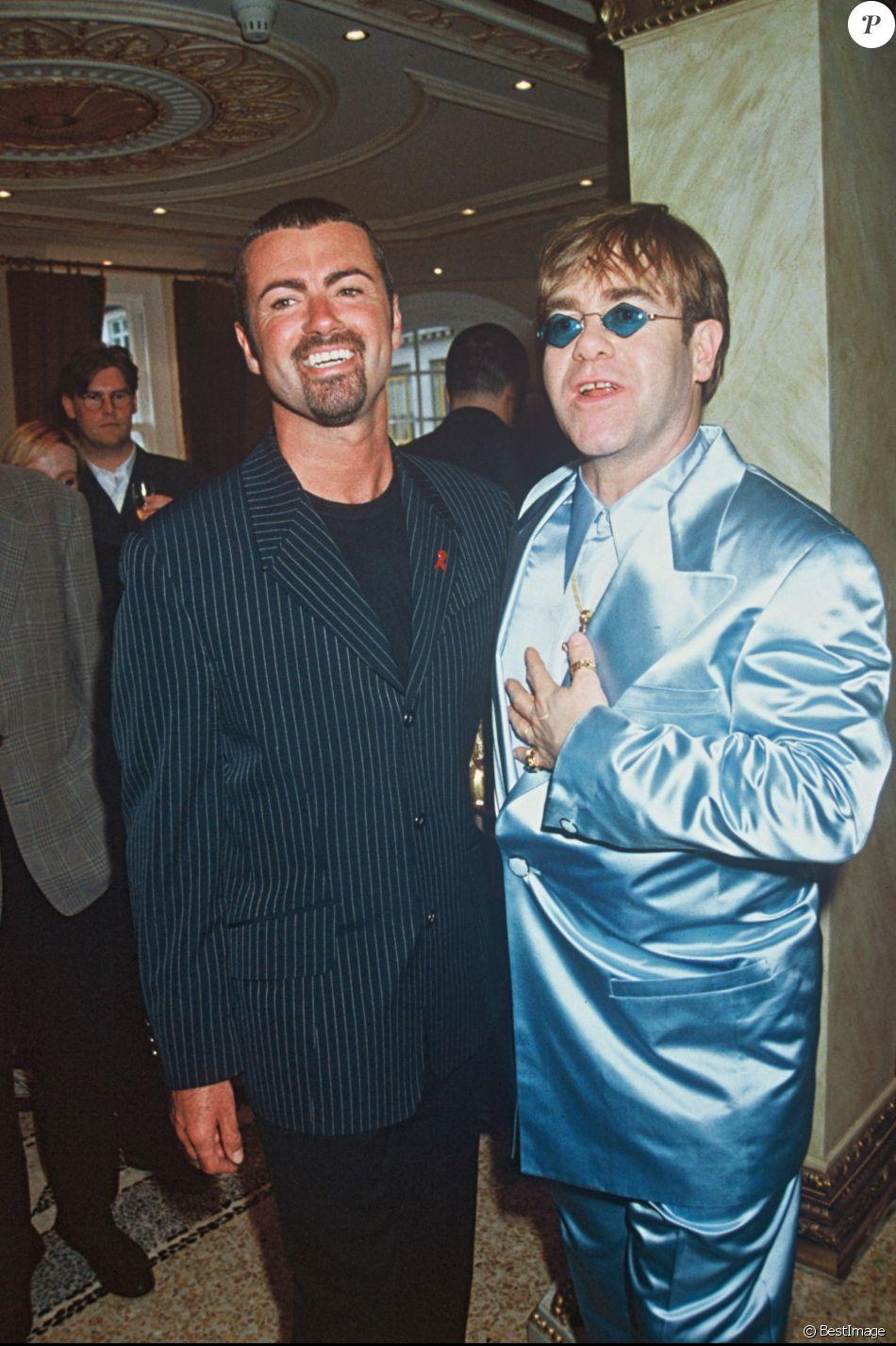 George Michael et Elton John à Londres, en juin 1995.