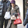 Leighton Meester sur le tournage de Gossip Girl à New York, le 2 février 2009