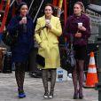 Leighton Meester sur le tournage de Gossip Girl à New York, le 17 février 2010