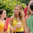 Leighton Meester et Blake Lively sur le tournage de Gossip Girl à New York, le 17 août 2010