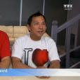 """Yvan et le regretté Jean-Richard dans """"Bienvenue chez nous"""" sur TF1 le 4 janvier 2017."""