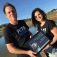 Rémi Gaillard est fait personnalité de l'année 2016 par Peta. Facebook, décembre 2016.