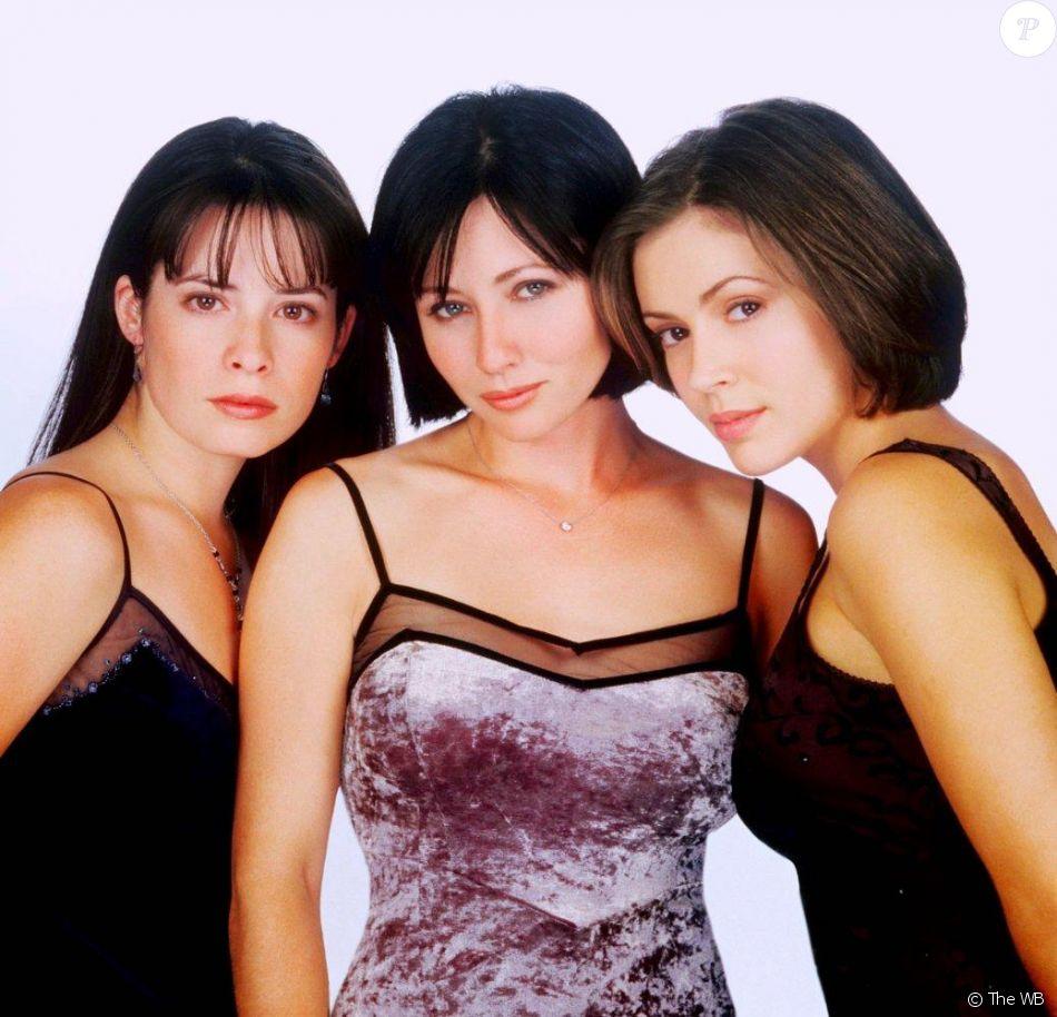 "Holly Marie Combs, Shannen Doherty et Alyssa Milano, le trio de départ de ""Charmed""."