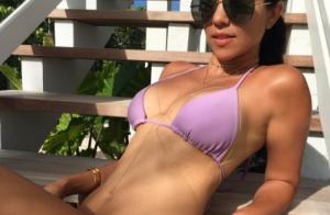 Kourtney Kardashian : Torride en bikini, elle dévoile une plastique de rêve