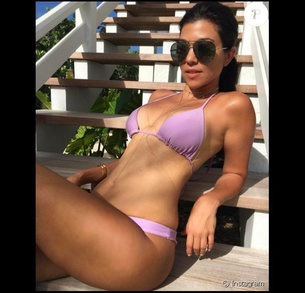 Kourtney Kardashian lors de ses vacances aux Bahamas (janvier 2017).