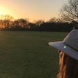 """""""Geri Halliwell célèbre les fêtes de fin d'année en famille, à la campagne. L'ex Spice Girl est enceinte de son deuxième enfant. Photo publiée sur Instagram à la fin du mois de décembre 2016"""""""