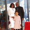 Viola Davis, son mari Julius Tennon et leur fille Genesis Tennon lors de l'inauguration de l'étoile de Viola Davis sur le Walk of Fame à Hollywood le 5 janvier 2017.