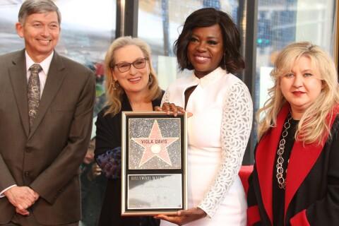 Viola Davis honorée : Elle inaugure son étoile en famille et avec Meryl Streep !