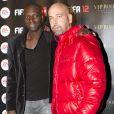 """""""Omar Sy et Sinik - Soirée de lancement de Fifa 2012 au Vip Room de Paris le 19 septembre 2011."""""""