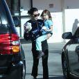Exclusif - Channing Tatum, sa femme Jenna Dewan et leur fille Everly se baladent à Studio City le 8 janvier 2017.