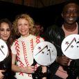 Alice Belaïdi, Alexandra Lamy et Ahmed Sylla lors de la cérémonie de clôture du 20e Festival du film de comédie à l'Alpe d'Huez, le 21 janvier 2017. © Dominique Jacovides/Bestimage
