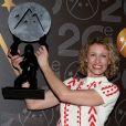 Alexandra Lamy, prix d'interprétation féminine parmi les lauréats lors de la cérémonie de clôture du 20e Festival du film de comédie à l'Alpe d'Huez, le 21 janvier 2017. © Dominique Jacovides/Bestimage