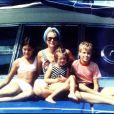 La princesse Grace de Monaco avec ses enfants Caroline, Stéphanie et Albert, photo d'archives.