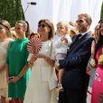 Camille Gottlieb, Pauline Ducruet, la princesse Caroline de Hanovre, Sacha Casiraghi, Andrea Casiraghi, Tatiana Santo Domingo Casiraghi. Premier jour des célébrations des 10 ans de règne du prince Albert II de Monaco à Monaco, le 11 juillet 2015.