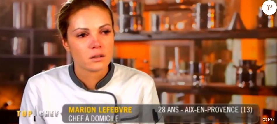 """Marion éliminée de """"Top Chef 2017"""" sur M6. Le 25 janvier 2017."""