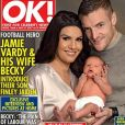 Jamie Vardy et sa femme Rebekah présentent leur fils Finley, né le 8 janvier 2017 à Leicester, dans le tabloïd anglais OK!.