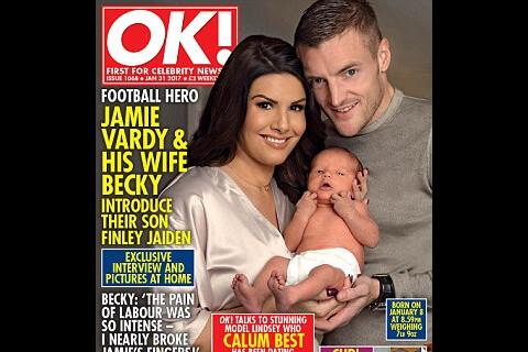 Jamie Vardy et sa femme Rebekah présentent leur bébé, après des moments durs