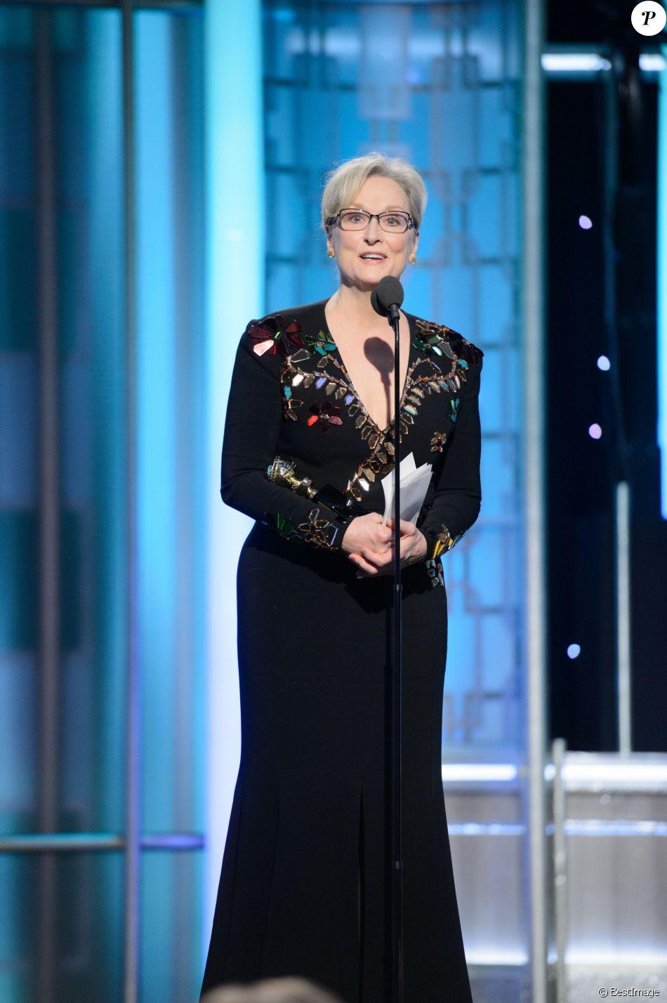 Meryl Streep - Show lors de la 74ème cérémonie annuelle des Golden Globe Awards à Beverly Hills, Los Angeles, Californie, Etats-Unis, le 8 janvier 2017. © HFPA/Zuma Press/Bestimage