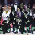 Louis Ducruet remet le Clown de Bronze à la troupe Holmikers - Soirée de gala du 41ème festival du cirque de Monte-Carlo à Monaco, le 24 Janvier 2017. © Pool/Frédéric Nebinger Monaco/Bestimage