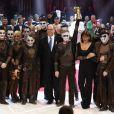 Le prince Albert II de Monaco remet le Clown d'Or à la troupe Trushin - Soirée de gala du 41ème festival du cirque de Monte-Carlo à Monaco, le 24 Janvier 2017. © Pool/Frédéric Nebinger Monaco/Bestimage
