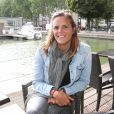 Exclusif - Laure Manaudou au bassin de la Villette à Paris. Le 2 juillet 2016 © Marc Ausset-Lacroix / Bestimage