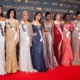 Miss République Dominicaine, Miss Croatie, Miss Danemark , Miss France (IRIS MITTENAERE) , Miss Angleterre Miss Belize, Miss Angola, et Miss Brésil - Tapis rouge de la soirée SMX avant l'élection de Miss Univers à Pasay aux Philippines le 28 janvier 2017