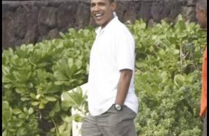 PHOTOS : Barack Obama en vacances à Hawaii  sans électricité... il a gardé le sourire, regardez !