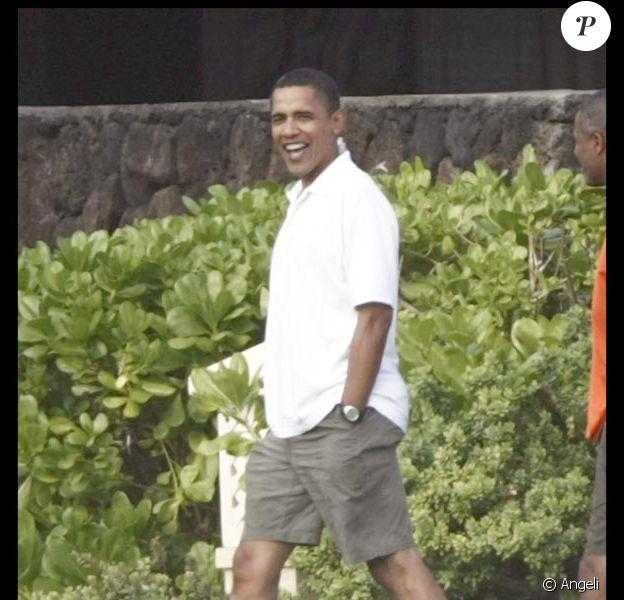 Barack Obama en vacances en famille à Hawaii