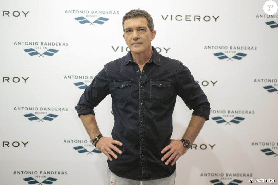 Antonio Banderas - Présentation de la nouvelle collection Viceroy à Madrid. Le 18 novembre 2016