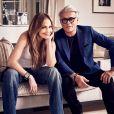 """Jennifer Lopez et Giuseppe Zanotti ont conçu une collection de chaussures, sobrement baptisée """"GiuseppexJennifer"""". Janvier 2017."""