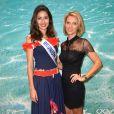 Ambre Nguyen, Miss Réunion 2016 et Sylvie Tellier visitent le stand de l'ile de la Réunion au salon Top Resa 2016 à Paris le 20 septembre 2016. © Veeren / Bestimage