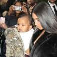 Kim Kardashian et ses enfants North et Saint West à New York. Le 1er février 2017.