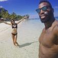 Ariane Brodier en vacances avec son chéri Fulgence Ouedraogo, à l'Île Maurice. Photo postée sur Instagram le 31 décembre 2017.