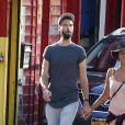 Semi-Exclusif - Benoît Paire et sa compagne Shy'm se promènent dans les rues de Brooklyn à New York le 23 août 2016