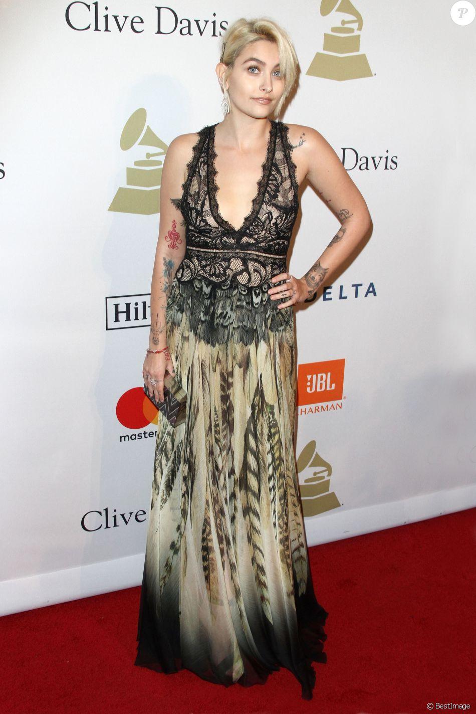Paris Jackson - Soirée pré-Grammy Awards de la fondation Clive Davis (à l'honneur de Debra Lee, président du conseil et PDG de BET) au Beverly Hilton. Beverly Hills, Los Angeles, le 11 février 2017.
