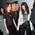 Bella Hadid, Kendall Jenner, Hanne Gaby Odiele, Anna Ewers et les mannequins du défilé Alexander Wang à New York. Le 11 février 2017.