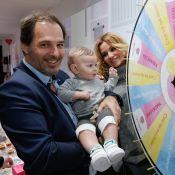 Ingrid Chauvin, son fils et son mari assistent à l'élection du Bébé Cadum 2017