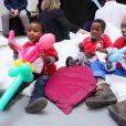 """Exclusif - Illustration - Election du Bébé Cadum 2017 lors de la """"Rigoladerie Cadum, la family party engagée"""" à Paris le 4 février 2017. © CVS/ Bestimage"""