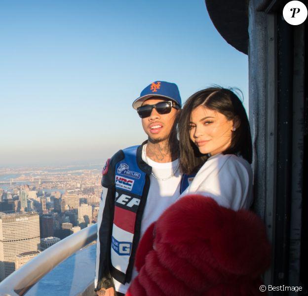Kylie Jenner et son compagnon Tyga visitent l'Empire State Building pour la Saint Valentin à New York, le 14 février 2017 © Bryan Smith via Zuma/Bestimage