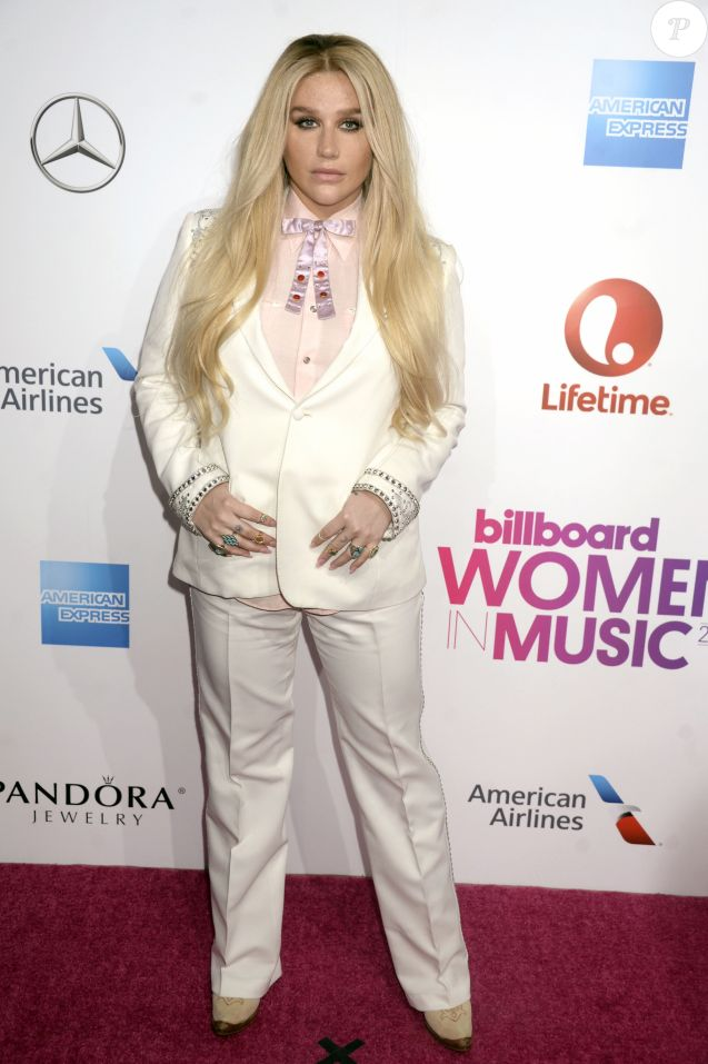 Kesha à la soirée 2016 Billboard Women à New York, le 9 décembre 2016 © Future-Image via Zuma/Bestimage