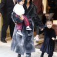 Kim Kardashian est allée déjeuner au restaurant Cipriani avec ses enfants North, Saint et son meilleur ami Jonathan Cheban à New York. Le 1er février 2017