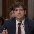 Ashton Kutcher face au Sénat américain, le 15 février 2017. (capture d'écran)