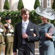 Le prince Louis et la princesse Tessy au mariage religieux du prince Guillaume de Luxembourg et de la comtesse Stéphanie de Lannoy à Luxembourg, le 20 octobre 2012.